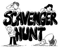 Treasure clipart scavenger hunt