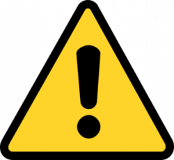 Triangle clipart caution