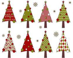 Plaid clipart christmas tree