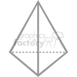 Pyramid clipart sided