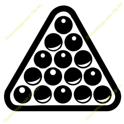 Triangle clipart pool