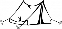 Tent clipart black and white