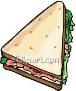 Sandwich clipart triangle objects