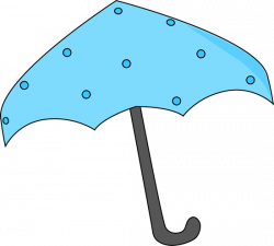 Umbrella clipart pink polka dot