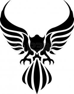 Black Eagle clipart spread eagle