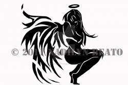 Fallen Angel clipart tribal