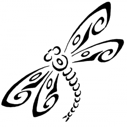 Dragonfly clipart tribal
