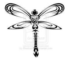 Tribal clipart dragonfly