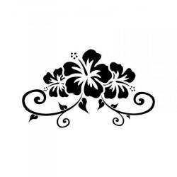 Tribal clipart hibiscus flower
