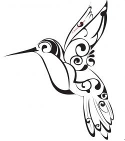 Tribal clipart hummingbird