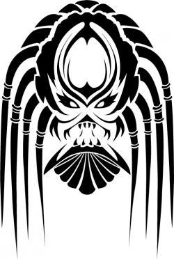 Drawn predator tribal
