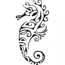 Drawn seahorse simple