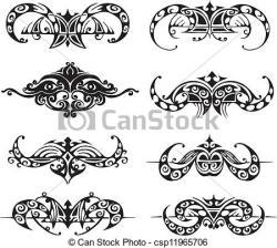 Vignette clipart symmetrical