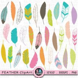 Funky clipart feather