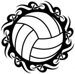 Tribal clipart volleyball