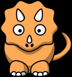 Orange clipart triceratops