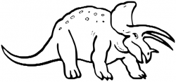 Extinct clipart black and white