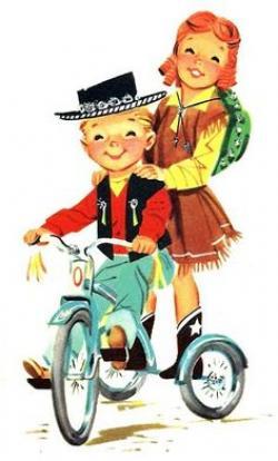Cowgirl clipart retro