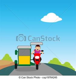 Tricycle clipart toda