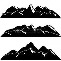 Glacier clipart mountain range