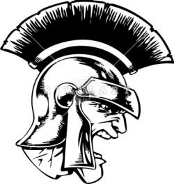 Trojan clipart black and white