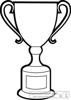 Drawn trophy black and white