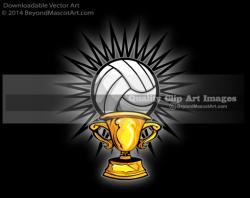 Trophy clipart volleyball