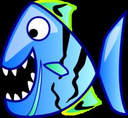 Piranha clipart fish head