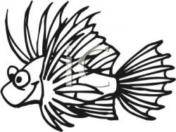 Lionfish Clipart Black And White