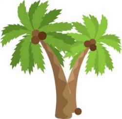 Coconut clipart pineapple tree