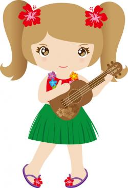 Ukulele clipart hawaiian person