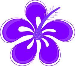 Plumeria clipart purple