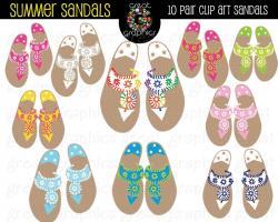 Sandal clipart tropical