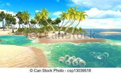 Shore clipart paradise