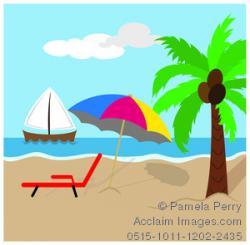 Shoreline clipart tropical scene