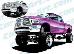 Dodge clipart lifted truck
