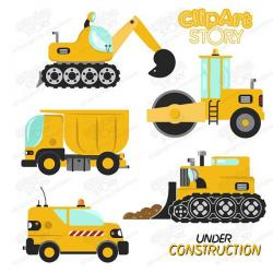Excovator clipart road construction