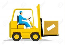 Warehouse clipart forklift driver