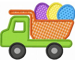 Truck clipart easter