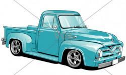 Classics clipart ford truck