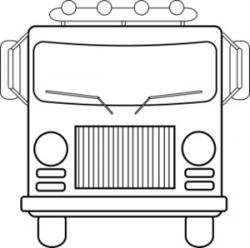 Truck clipart front view