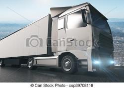 Truck clipart grey