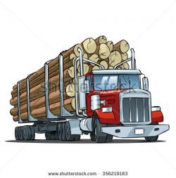 Timber clipart loaded truck