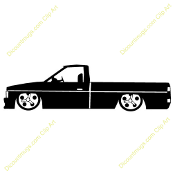 Truck clipart low rider
