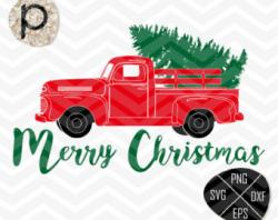 Truck clipart merry christmas