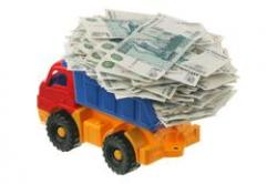Truck clipart money