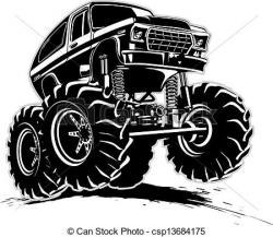 Truck clipart muddy