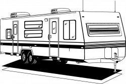 Camper clipart travel trailer
