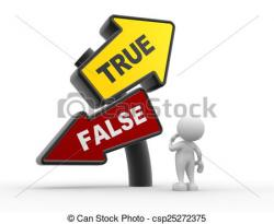Choice clipart true false