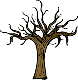 Barren clipart leafless tree